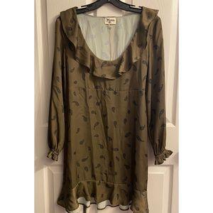 NWT Show Me Your MuMu Green Bandana Ruffle Dress